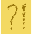 footprint exclamation question mark vector image vector image