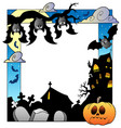 frame with halloween topic 5 vector image vector image