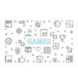 games concept outline on white vector image vector image