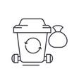 garbage line icon concept garbage linear vector image vector image