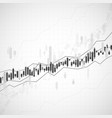 graph chart stock market investment trading vector image vector image