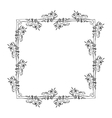 gray scale frame with olive branch contour vector image vector image