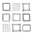 Hand-drawn frames vector image vector image