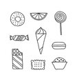 Hand drawn icon set of cookies chocolates cakes vector image vector image
