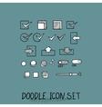 Hand drawn icons set website development vector image vector image