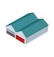 Hangars Icon In Isometric Projection vector image