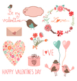 Happy valentines day set