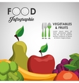 healthy and organic food design vector image vector image