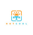 hot and cool logo vector image