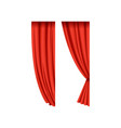 icons of red silk or velvet theatrical curtains vector image vector image