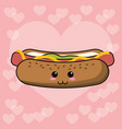 kawaii hot dog image vector image