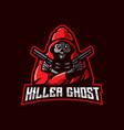 killer ghost e-sport mascot logo design vector image