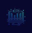 kpi business indicators linear icon vector image vector image