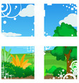 landscape window vector image