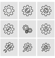 line tools in gear icon set vector image vector image