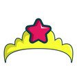 little princess crown icon cartoon style vector image vector image