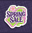 logo for spring season sale vector image
