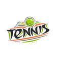 logo for tennis vector image