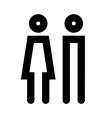 Man and women icon set