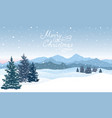 merry christmas greeting card winter holiady vector image