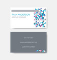 modern trendy abstract business card design vector image