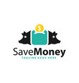 money saving pig logo vector image
