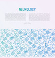 neurology concept with thin line icons vector image vector image