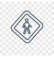 no step concept linear icon isolated on vector image