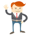 Office man waving vector image