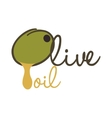 Olive fruit icon Organic and healthy food design vector image vector image