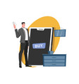 online buy smartphone composition vector image