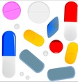 Pills Isolated On White vector image