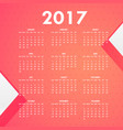 pink background for 2017 calendar vector image vector image