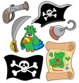 pirate equipment collection vector image vector image
