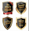 premium quality golden shields collection vector image vector image