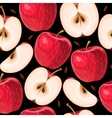 Red apples and apple slices seamless vector image vector image