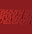 red maze labyrinth - horizontal version vector image