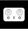 remote control white color icon vector image vector image