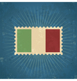 Retro Italy Flag Postage Stamp vector image