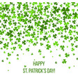 Saint patrick s day border with green four and