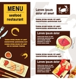 Sea Food Menu vector image vector image