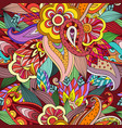 seamless colorful hand drawing doodle pattern vector image vector image