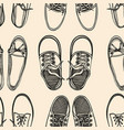 seamless pattern shoes vector image vector image