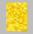 seamless polygonal mosaic triangle page template vector image vector image