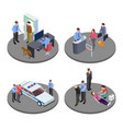 security and police work isometric vector image