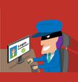 senior woman was hacked account hacker vector image vector image
