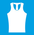 sleeveless shirt icon white vector image vector image