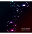 soap bubbles on black background vector image vector image