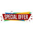 special offer banner design vector image