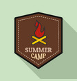 summer fire camp logo flat style vector image
